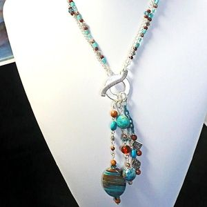 Turquoise Gemstone Pendant Necklace